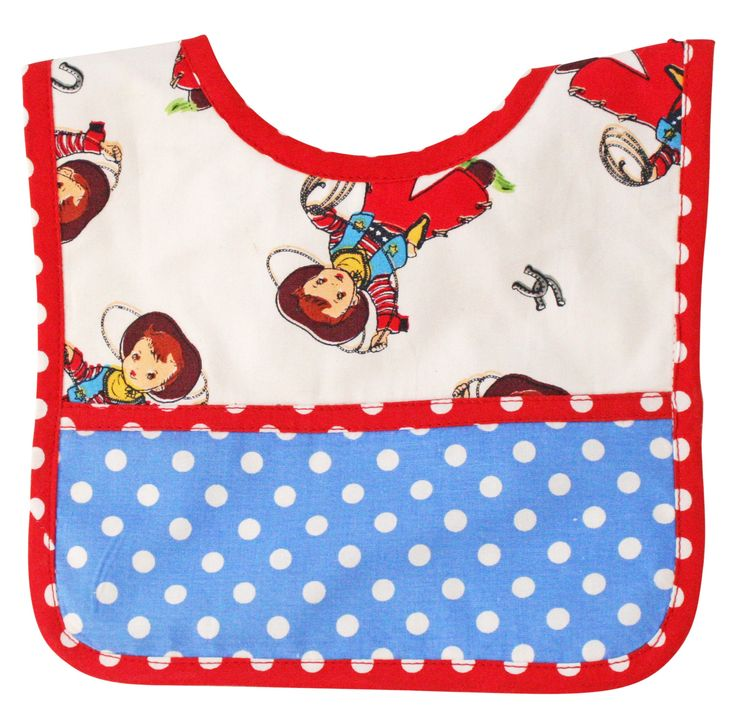 * Alimrose Billy Cowboy Bib  - Gorgeous bright bib for lil cowpokes!