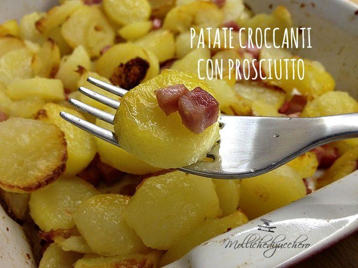 patate croccanti con prosciutto