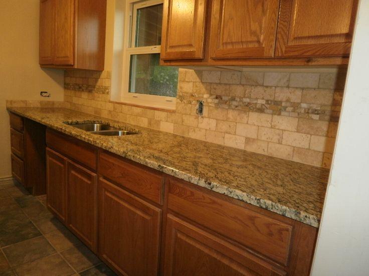 18 best Kitchen tile images on Pinterest | Kitchen ... on Best Backsplash For Granite Countertops  id=20587