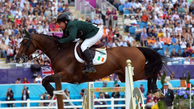 Cian O'Connor of Ireland riding Blue Loyd 12 competes in the Individual Jumping Equestrian on Day 12 of the London 2012 Olympic Games at Greenwich Park