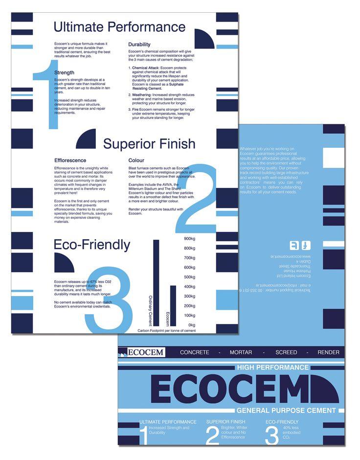 Ecocem marketing materials and branding graphic design by Kingston Lafferty Design. www.kingstonlaffertydesign.com