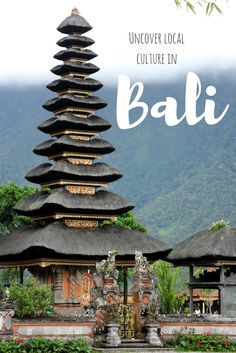 Uncover local culture in Bali at one of these interesting sites, where you can learn about the Indonesian islands local history, main religions and even the indigenous wildlife.  Temples | Bali trip | Indonesia travel | Backpacking | Culture travel | Authentic travel | Off the beaten path | Bali things to do
