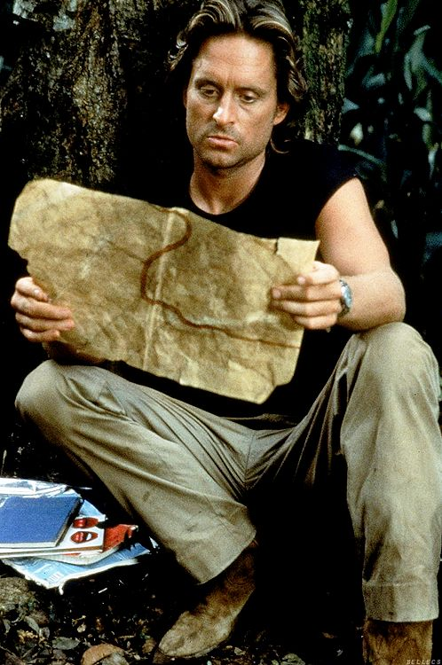 Michael Douglas in Romancing the Stone, 1984, he was so very fine in this movie!