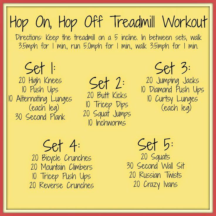 Running A Thousand Miles: Hop On, Hop Off Treadmill Workout http://www.runningathousandmiles.com/2014/08/hop-on-hop-off-treadmill-workout.html