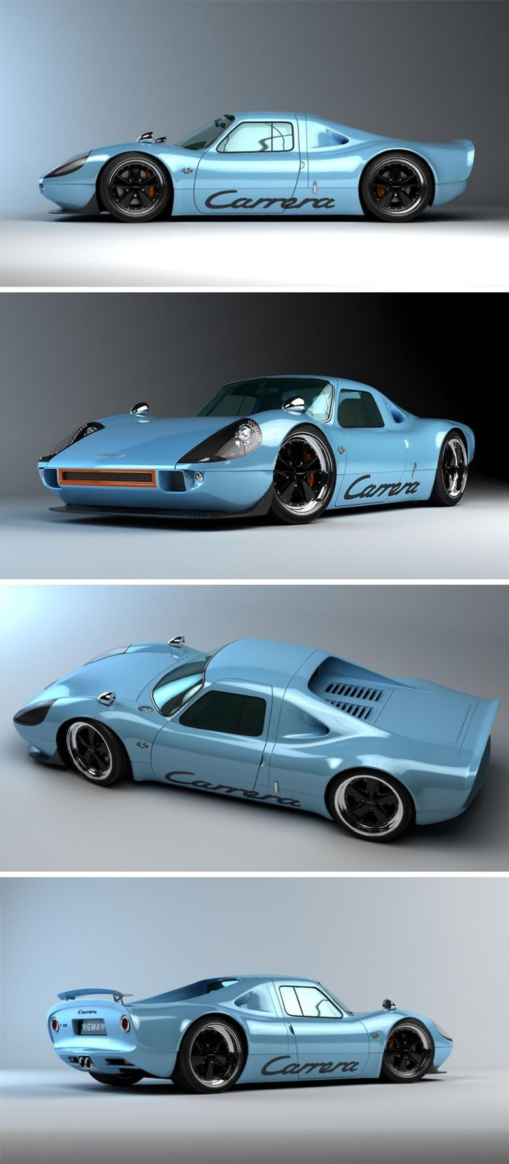 Porsche P/904 Carrera - Texas tuner, Gullwing America,  used the base of a second-generation Porsche Boxster, complete with a six-speed manual gearbox and 3.4-litre engine, producing 291bhp.  Hybrid aluminium composite body,