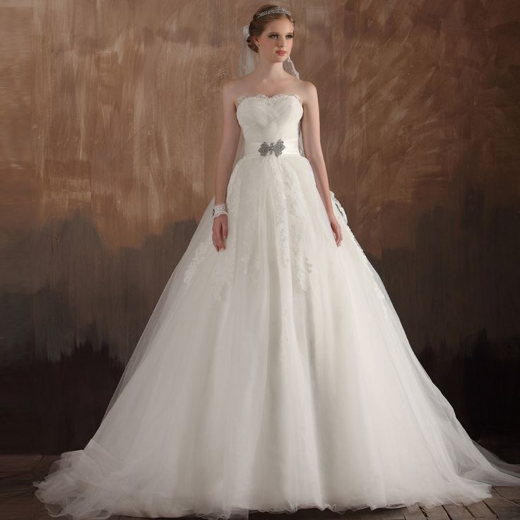 Strapless Ball Gown charming bridal gown. mmy type of wedding dress
