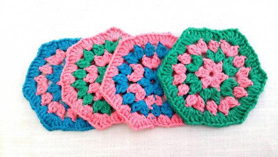 Grunny's crochet coasters /doilies/ hexagon/ by KaterinakiJewelry