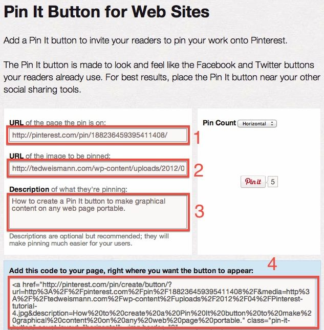 How to create a Pin It button to make graphical content on any web page portable.