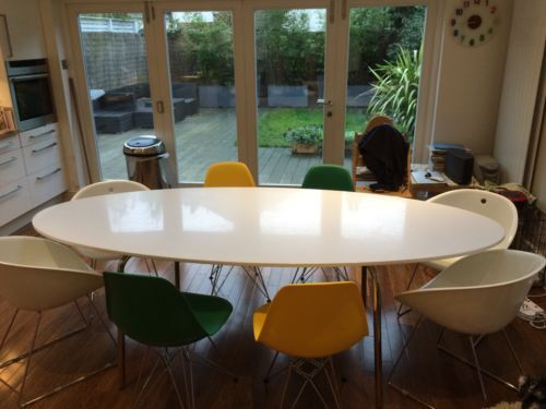 Good Dining Table   Oval Ikea Gidea Gloss White