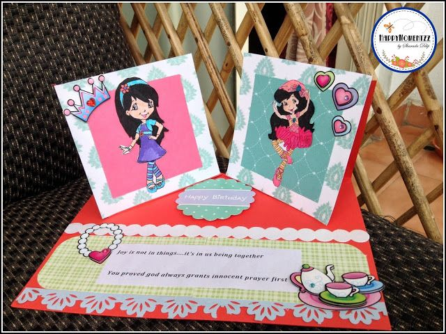 HappyMomentzz crafting by Sharada Dilip: Double Twisted Easel sisters Card