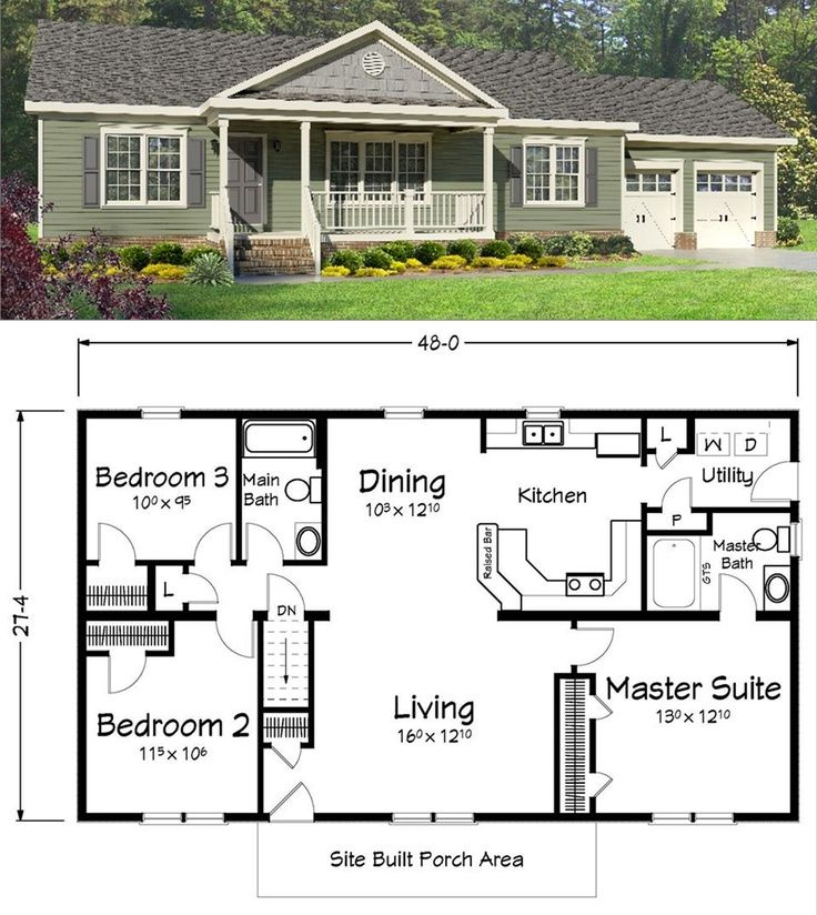 House Plans With The Garage On Side Sq Ft on