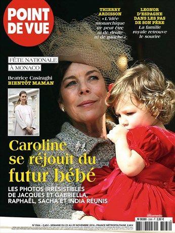 Caroline se réjouit du futur bébé -  Point de Vue - Numéro 3566