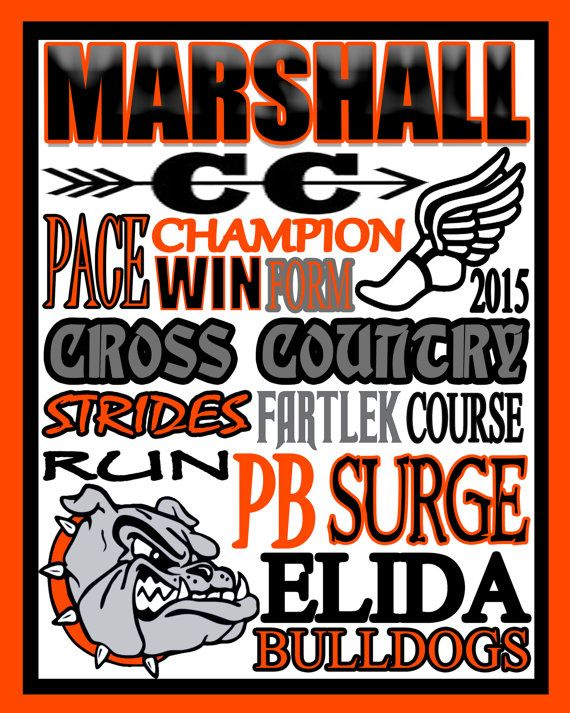 Cross Country  custom cross country poster  CC by PinksPerfections