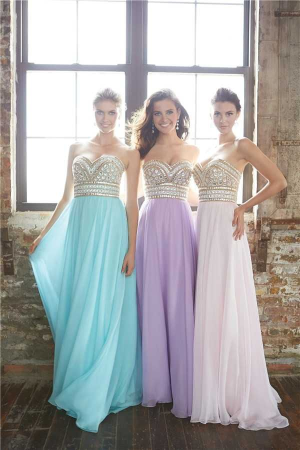 Madison James 15-116 Pastel Rhinestones Long Prom Dresses 2017