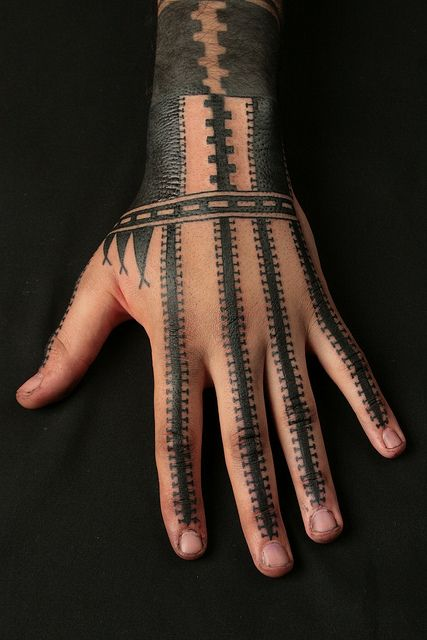 Tattoo by Nazareno Tubaro by Needles and Sins (formerly Needled): Tattoo Ideas, Patterns Tattoo, Jeeztattoo Patterns, Nazareno Tubaro, Henna Ink Tattoo, Hands Tattoo, Primitive Patterns, Tattoo Design, Tattoo Ink