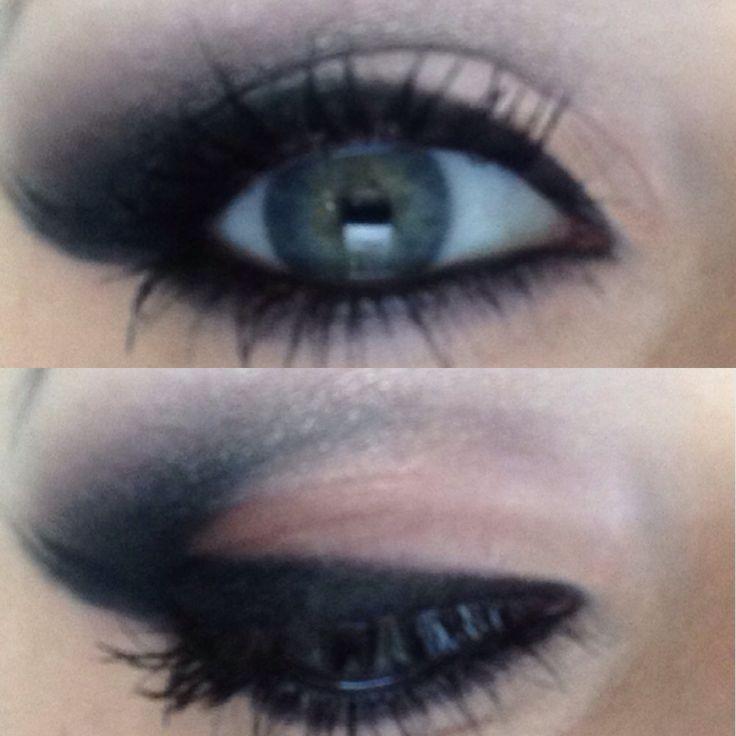 Make up. Eye make up.