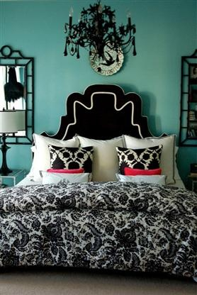 LOVE turquoise, black & white rooms: