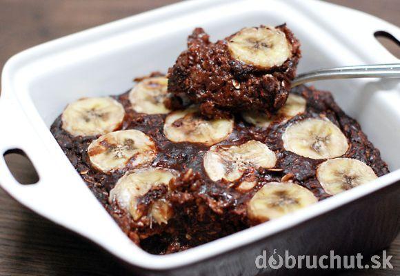 Fotorecept: Zapekaná ovsená brownie kaša s banánom