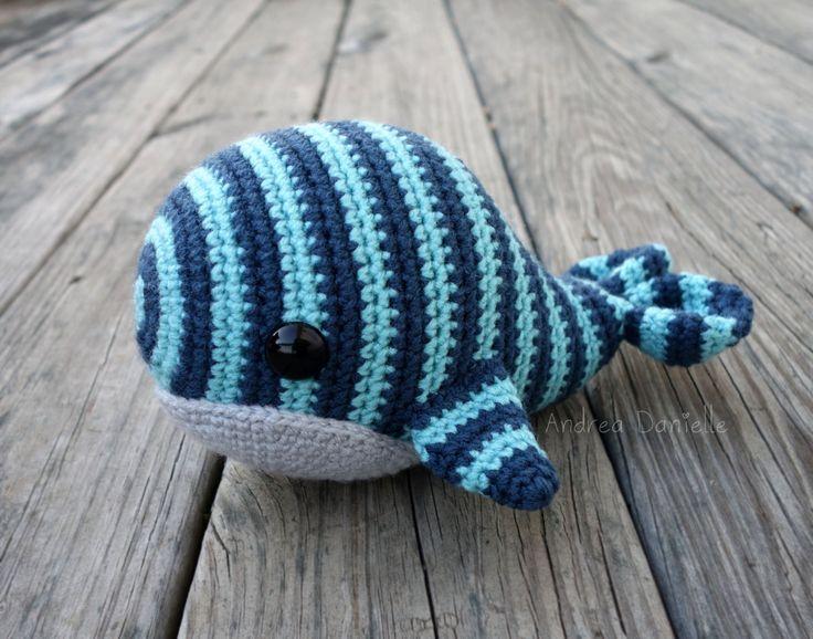 Will the Whale Crochet Amigurumi/ Plush: Aqua, Blue ...