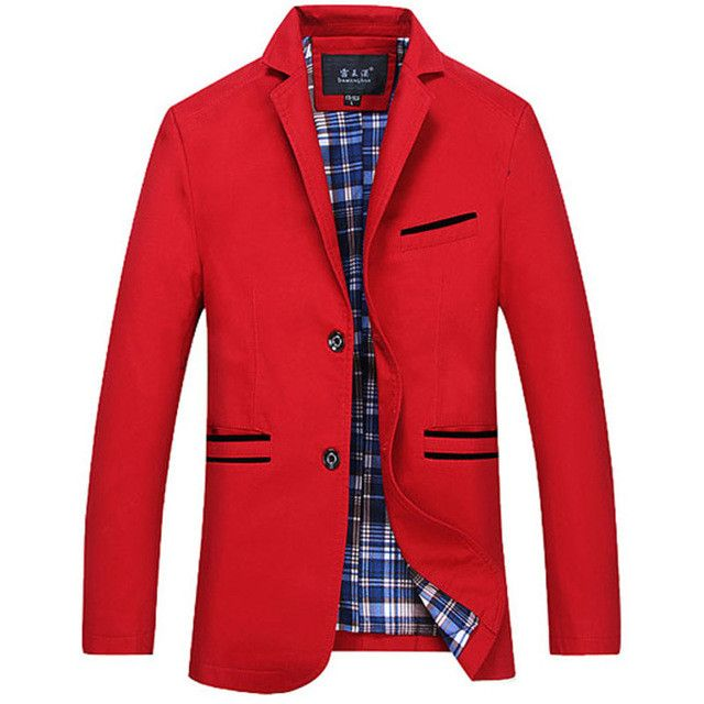 Large size men's casual suit jacket Men's high quality cotton dress collar single-breasted coat for men free shipping