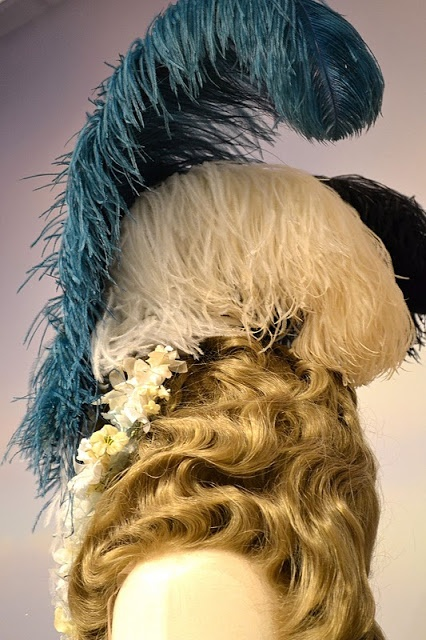 Keira Knightley costume hat detail in 'The Duchess', 2008. Late 18th Century Georgian costumes by Michael O'Connor.