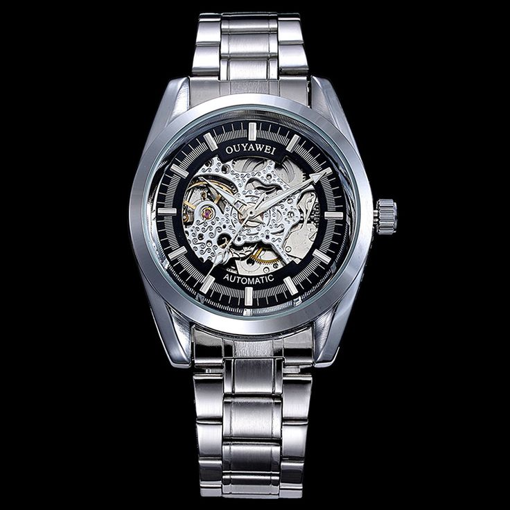 OUYAWEI 1302 Fashion Skeleton Dial Leather Band Full Mechainical vigilanza dell'uomo Watches MenS Watcha Relogio Masculino-in Mechanical Watches from Watches on Aliexpress.com | Alibaba Group