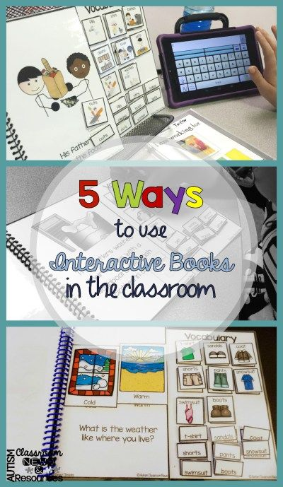 Classroom Interactive Ideas ~ Ways to use interactive books in the classroom student