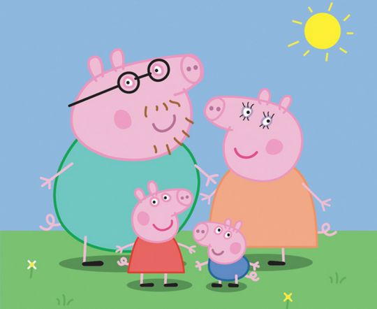 """Peppa Pig - preschool TV show. Last Pinner: Creator Astley Baker Davies must be hysterical because this British show combines a bit of dry humor with over-over-the-top, snorting humor. They literally snort — they're pigs! At the end of every episode the all fall on their backs laughing. I have actually found myself relating real life episodes with Peppa Pig. My only gripe is that I wish they were longer! They're only 10 minutes, but that means they're great for """"Ok, one more show!"""""""