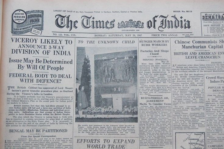 Partition of India  Viceroy 3 way Division of India Bengal Partition 24 May 1947