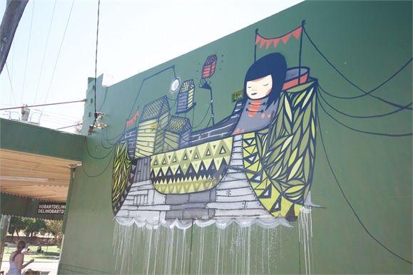 "Kyle Hughes Odgers ""Creepy"" Mural"