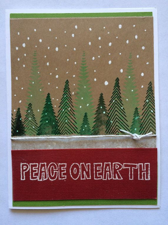 Holiday Greeting Cards /Christmas Cards with by KipseysCardShop #holidaycards #merrychristmas #happyholiday #peaceonearth #handmadeholidaycards #etsy #handmadecards