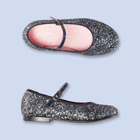 Our girls would flip for these sparkly Mary Janes