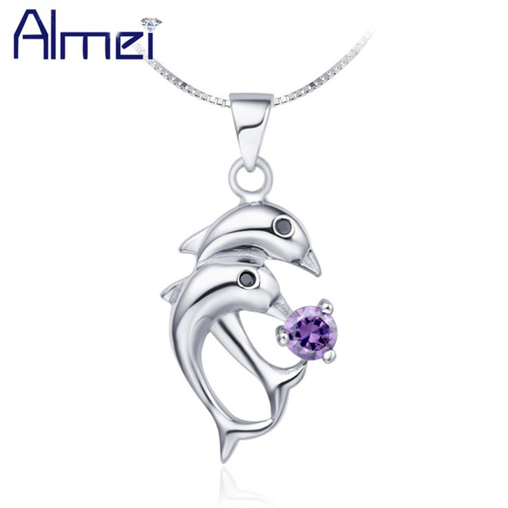 Find More Pendant Necklaces Information about Cute Dolphin Necklace Women 925 Sterling Silver Jewelry Animal Pendant Blue/Purple White Crystal Necklaces Pendants Joias N301,High Quality necklace settings for pearls,China necklace bull Suppliers, Cheap necklace mannequin from ULove Fashion Jewelry Store on Aliexpress.com