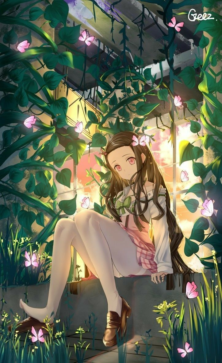 Nezuko Kamado Kimetsu No Yaiba Demonslayer Characters Design Drawing Manga Art Anime Animestyle Animegi In 2020 Anime Chibi Cute Anime Character Anime Demon