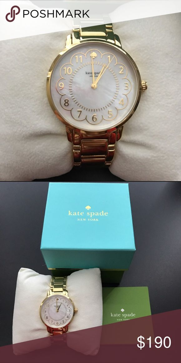 Kate Spade Gold Watch New Gold Watch in box with working battery and manual.  All extra links are included as well kate spade Accessories Watches
