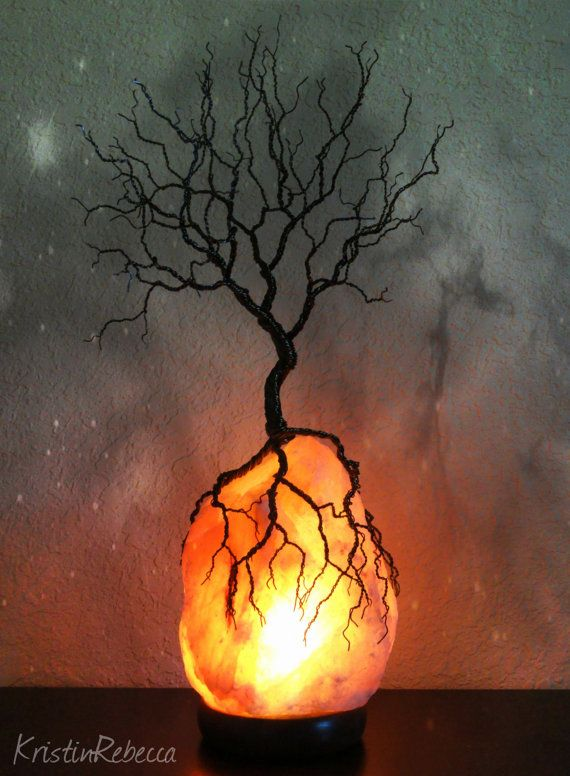Tree of Life Lighted Wire Sculpture Himalayan Salt Lamp Tree Sculpture