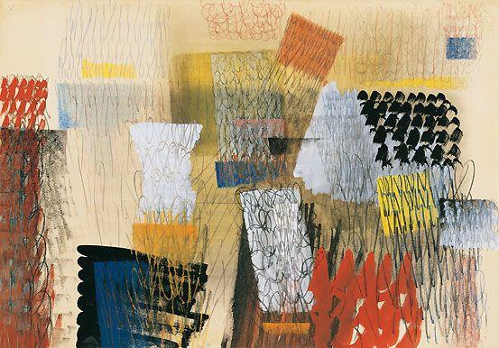 Tancredi Parmeggiani Pastello guazzo e grafite su carta cm70X99 Peggy Guggenheim Venezia