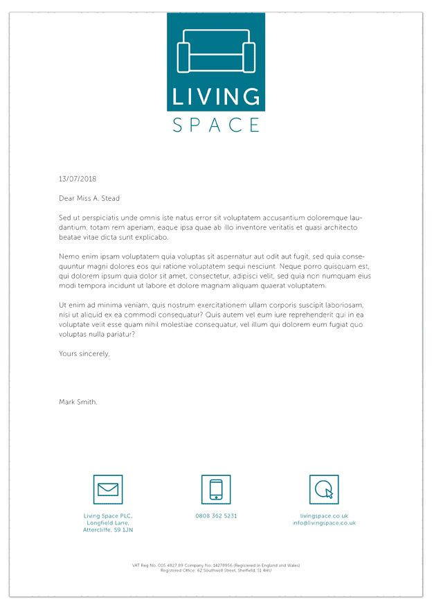 Living Space Letterhead Front