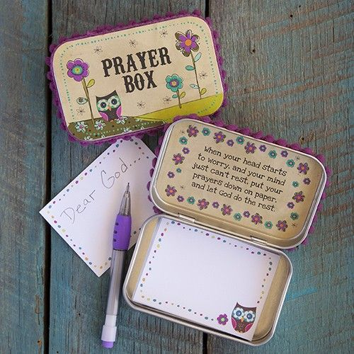 Owl Prayer Box -- this would be a sweet Bible Exploration activity.