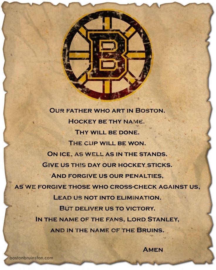 boston bruins stanley cup prayer