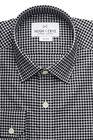 Black Check Gingham men's shirt from Hugh & Crye