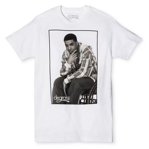 Men's Drake Degrassi T-Shirt White : Target