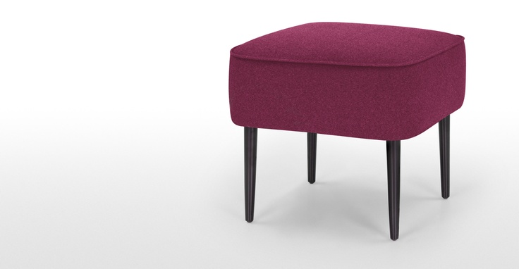 Jersey Small Footstool in raspberry red | made.com