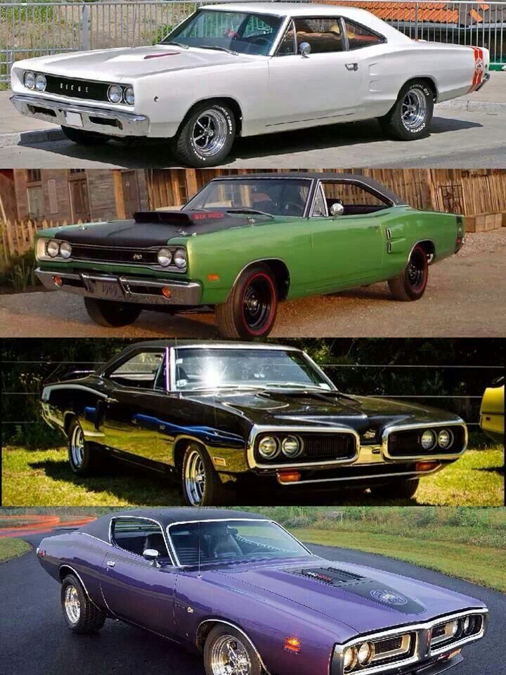 68,69,70 and 71 Dodge Coronet Super Bees.