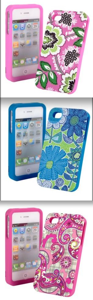Vera Bradley Launches iPhone 4 & 4S Cases ($40 Shipped) @Kari Davis haha! i thought of you when i saw these Vera Bradley iPhone cases!! :)