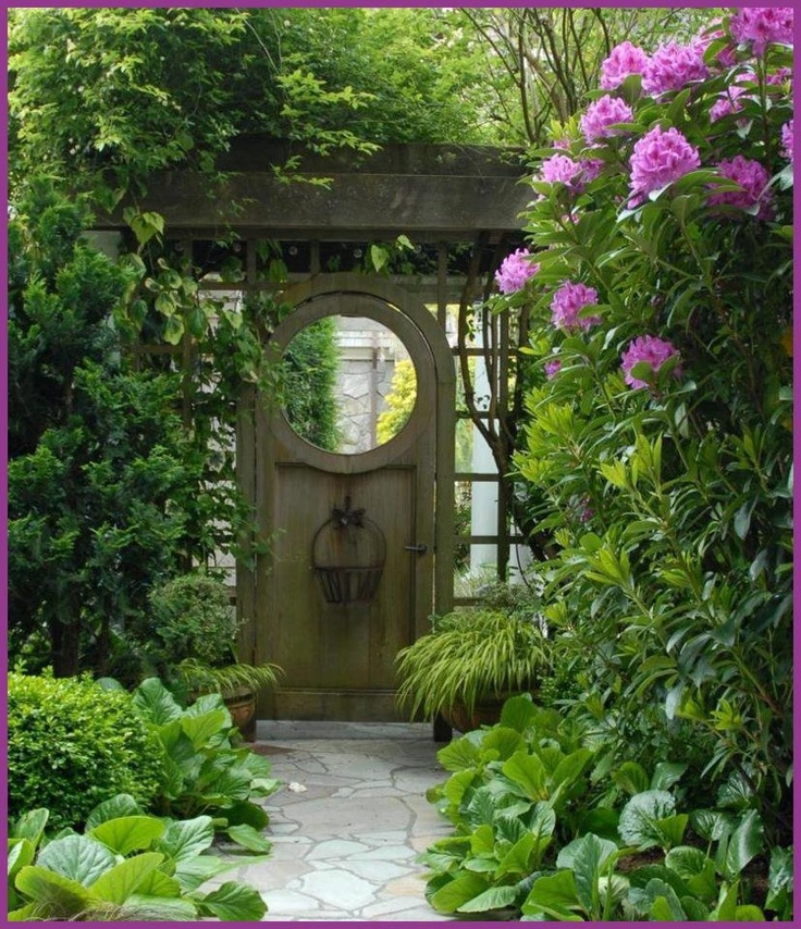 Wish this was the door to my backyard  13 best My New Zen Spot images on Pinterest Decks Gardening and