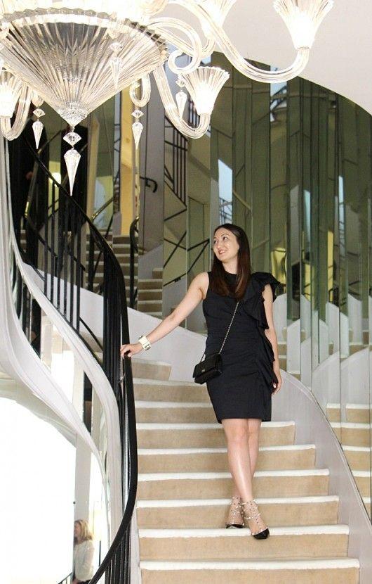 Coco Chanel 31 Rue Cambon Apartment in Paris (I wore: Lanvin dress, Valentino Rockstud shoes, Chanel bag)