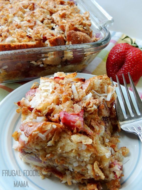 (5) Strawberry-Coconut Crunch Layered French Toast