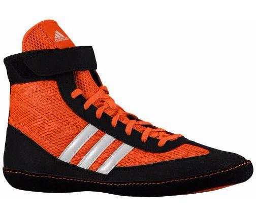 Adidas Combat Speed 4 Wrestling Shoes - Orange/Black/White