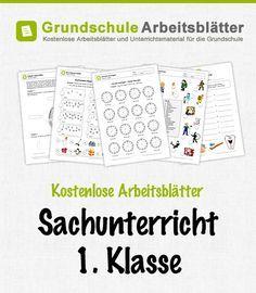 Kostenlose Arbeitsblätter und Unterrichtsmaterial für den Sachunterricht in der 1. Klasse in der Grundschule.